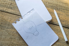 Idea symbol on recycle paper Stock Photography