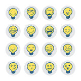 Idea symbols with emotion. Royalty Free Stock Photo