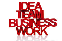 Idea team business work Stock Photo