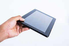 Idea technology tablet pc in hand Stock Photo