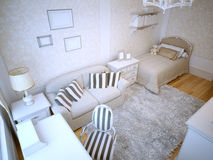 Idea of teen bedroom Royalty Free Stock Photo