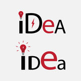 Idea text. Element for logo. EPS10 vector Royalty Free Stock Photography