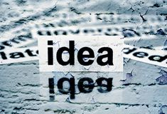 Idea text on grunge background Royalty Free Stock Photography
