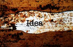 Idea text on torn paper Royalty Free Stock Photography