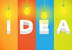 Idea light bulbs Royalty Free Stock Image
