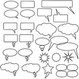 Idea thinking symbols Stock Images