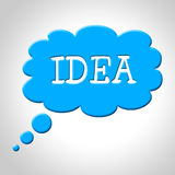 Idea Thought Bubble Means Think About It And Thinking. Idea Thought Bubble Representing Think About It And Concept Thinking Royalty Free Stock Image