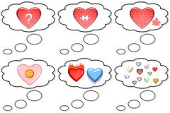 Idea or thought bubbles. A collection or set of idea or thought bubbles or balloons vector illustration