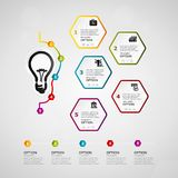 Idea timeline infographics Stock Photos