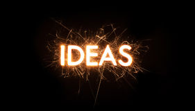 IDEA title word in glowing sparkler Stock Image