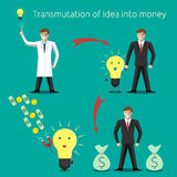 Idea transmuting into money vector illustration