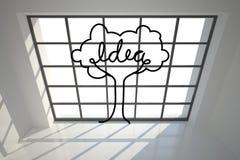 Idea tree in bright room Stock Photo