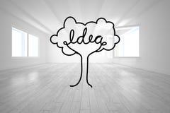 Idea tree in bright room Royalty Free Stock Photo