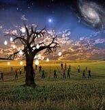 Idea tree landscape Royalty Free Stock Photos