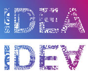 IDEA typographic Stock Image