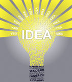 IDEA typographic bulb Royalty Free Stock Image