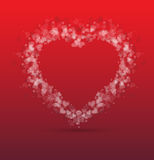 Idea of a Valentines Day Card background Royalty Free Stock Photos