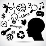 Idea vector icon set. Stock Image