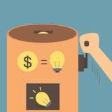 Idea vending machine concept  Stock Image