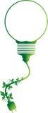 Idea verde hecha por símbolo de la vid ilustración del vector
