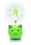 Idea verde para el ahorro enérgico imágenes de archivo libres de regalías