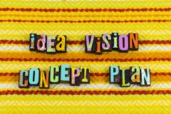 Idea vision concept plan goal setting. Planning ahead goal setting goals ideas positive thinking attitude optimism strategy business ambition yellow background royalty free stock image