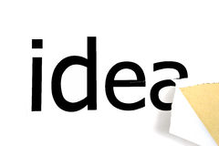 Idea on white background paper Royalty Free Stock Photo