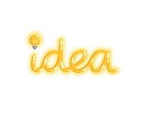 Idea on white Stock Image