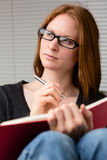 Idea - Woman Reading a Book Royalty Free Stock Photo