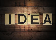 Idea word Stock Images
