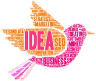 Idea Word Cloud Stock Photography