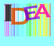 Idea word colorful Royalty Free Stock Images