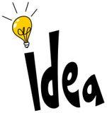 Idea word design royalty free illustration