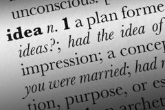 Idea word dictionary term Royalty Free Stock Photos