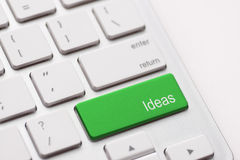 Idea word on keyboard Stock Image