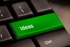 Idea word on keyboard Royalty Free Stock Photography