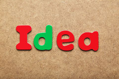 Idea word Royalty Free Stock Image