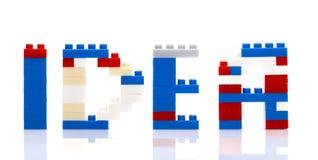 IDEA Word Plastic Blocks Royalty Free Stock Images