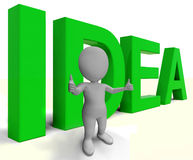 Idea Word Shows Concept Thoughts And Creativity Stock Photo