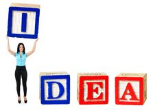 Idea word royalty free stock photography