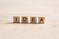 Idea word Stock Photo