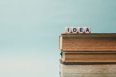 Idea word written on block in a book. Royalty Free Stock Images