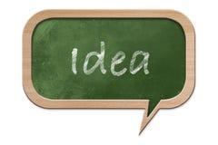 Idea written on Speech bubble shaped Blackboard Royalty Free Stock Photos