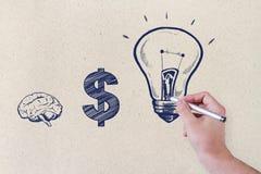 Idea y concepto de las finanzas imagenes de archivo