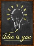 Idea is You. Wallpaper blackboard Royalty Free Stock Photo