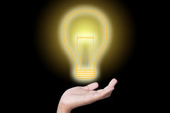 Idea in your hand Royalty Free Stock Photography