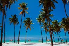 Ideaal whitesand blauw oceaanstrand Stock Fotografie