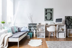 Ideal cozy room for hipster Stock Photos