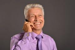 Ideal elderly man Stock Images