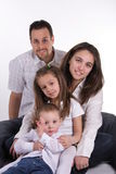 Ideal family. Portrait of family father,moher,daugther and son stock photo